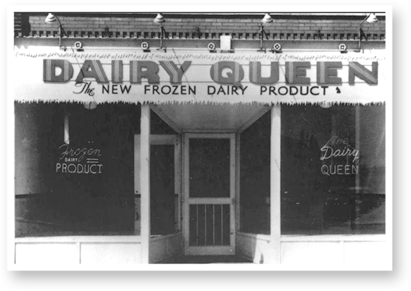 The first Dairy Queen® store opens in Joliet, Illinois. Menu items were limited to soft serve cones, pints, quarts, and sundaes.